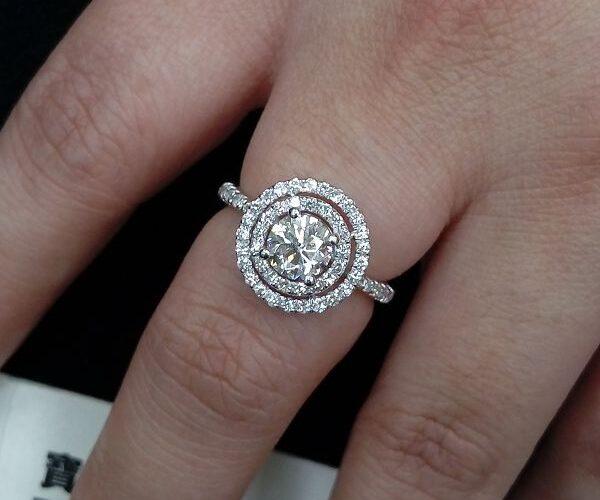 流當鑽石拍賣 GIA 豪華 八心八劍 一克拉 E色 女鑽戒 喜歡價可議ZS227