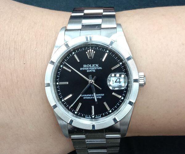 流當手錶拍賣 原裝 勞力士 15210 13劃 不鏽鋼 自動 男錶 9成9新 喜歡價可議